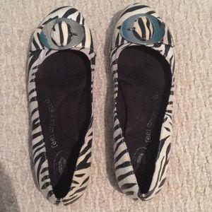 Zebra Dr. scholls flats